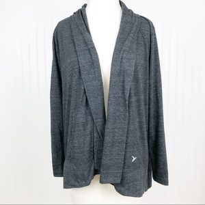 Old Navy Active Open Front Tunic Cardigan Gray S
